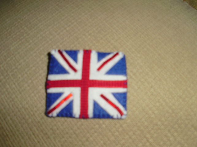 Felt Union Jack Brooch. (029)