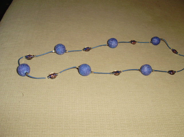 (138) Handmade Felt Necklace.