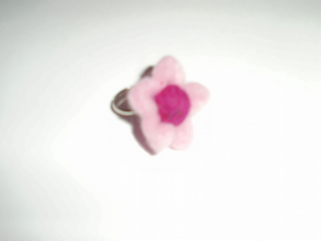 Handmade Children's Felt Ring.