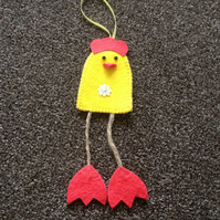 Handmade Felt Chicken Decoration. (313)