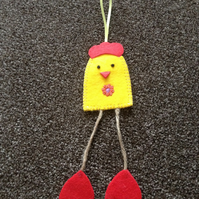 Handmade Felt Chicken Decoration. (314)