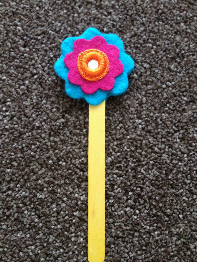 Handmade Flower Bookmark.