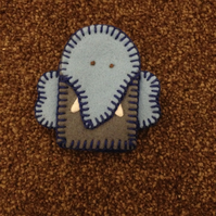 (111) Daddy Elephant Finger Puppet.