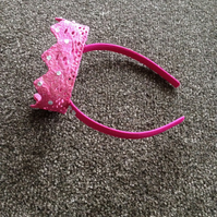 Children's Pink Crown Headband. (418)