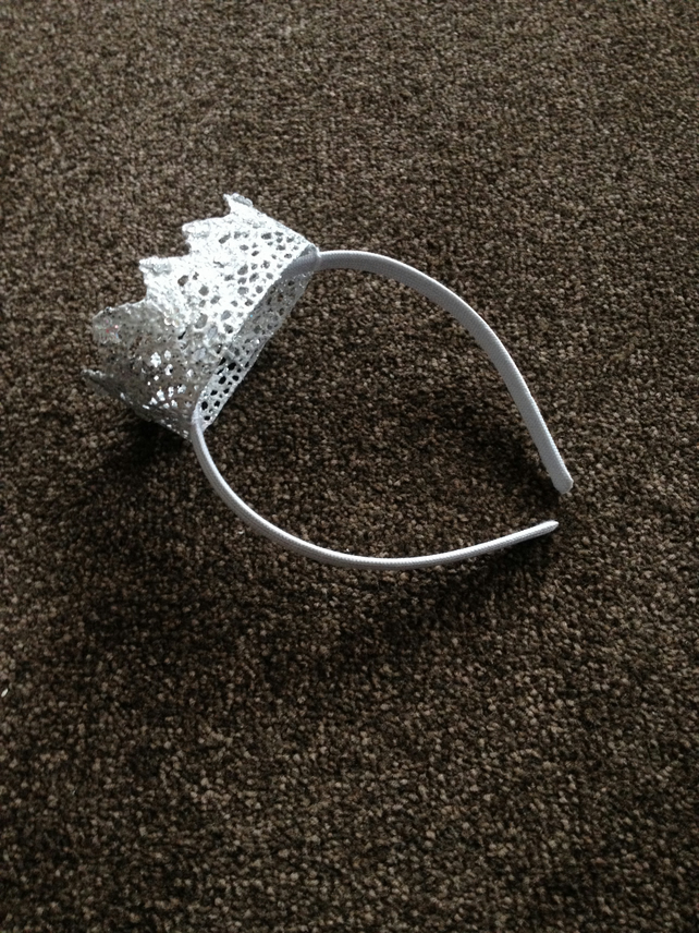 Children's Silver Crown Headband.