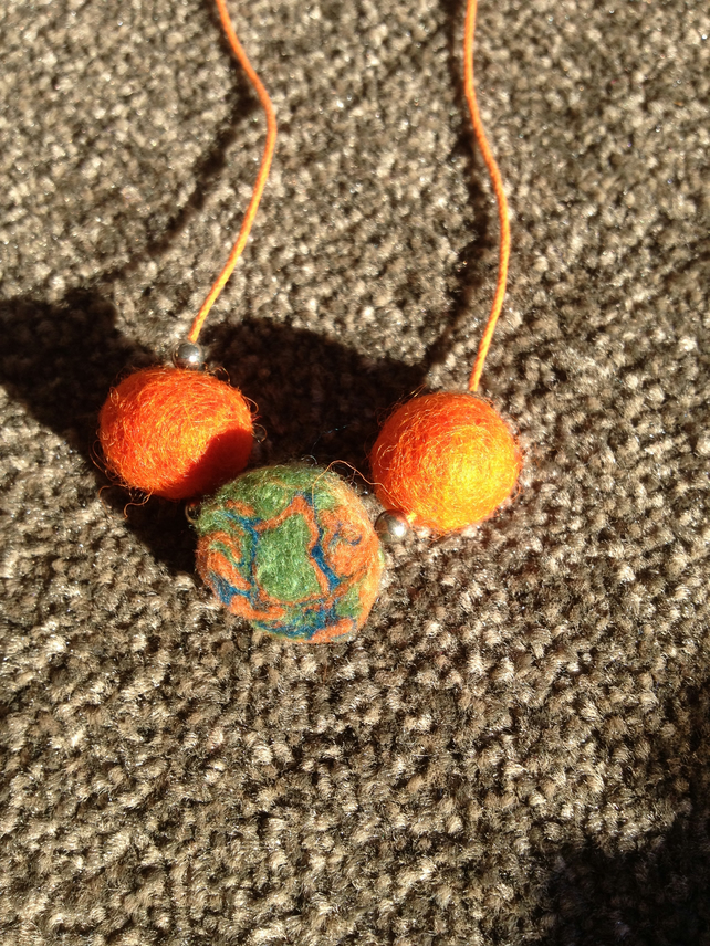 (461) Handmade Felt Necklace.