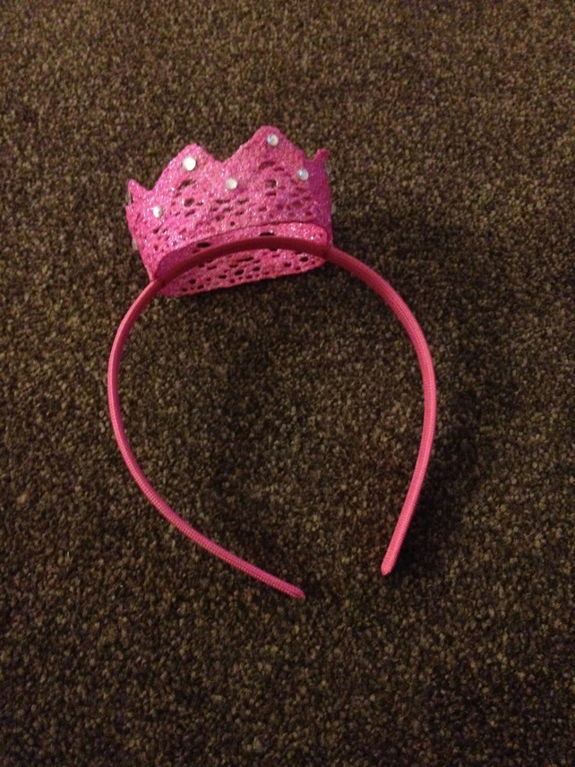 Children's Pink Crown Headband.