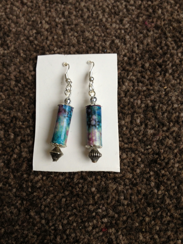 Handmade Paper Earrings.