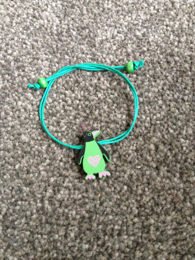 Children's Penguin Bracelet.