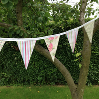 Pink Floral Bunting. (267)