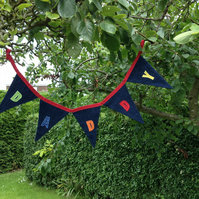 (221) Handmade Personalised Bunting DADDY.