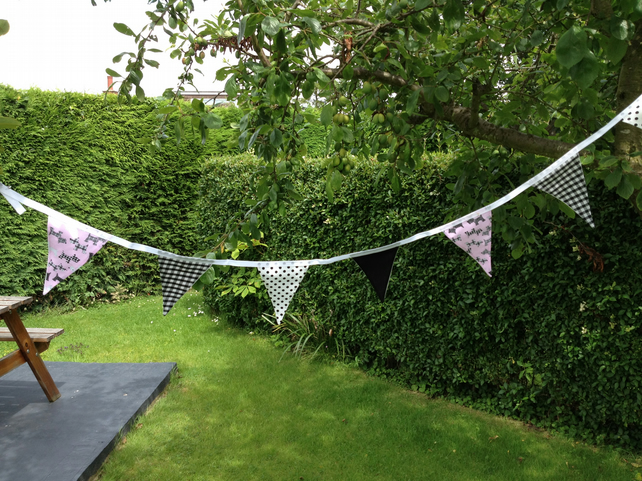 Handmade Pink Scotty Dog Bunting.