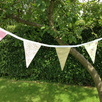 Pink and Green Cotton Bunting (350)