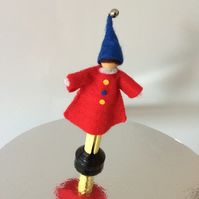 Clown Peg Doll. (353)