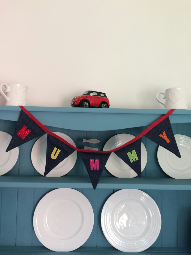 Personalised MUMMY Bunting. (036)