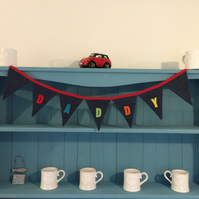 Personalised DADDY Bunting. (221)