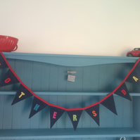 Personalised Bunting MOTHERS DAY. (258)