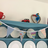 Handmade Cotton Beetle Bunting.