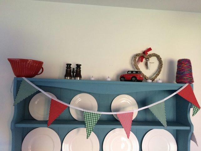 (452) Handmade Christmas Cotton Bunting.