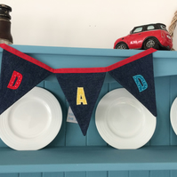 (392) Handmade Personalised Bunting DAD.