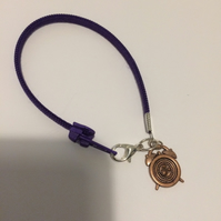 Children's Purple Zip Bracelet. (321)