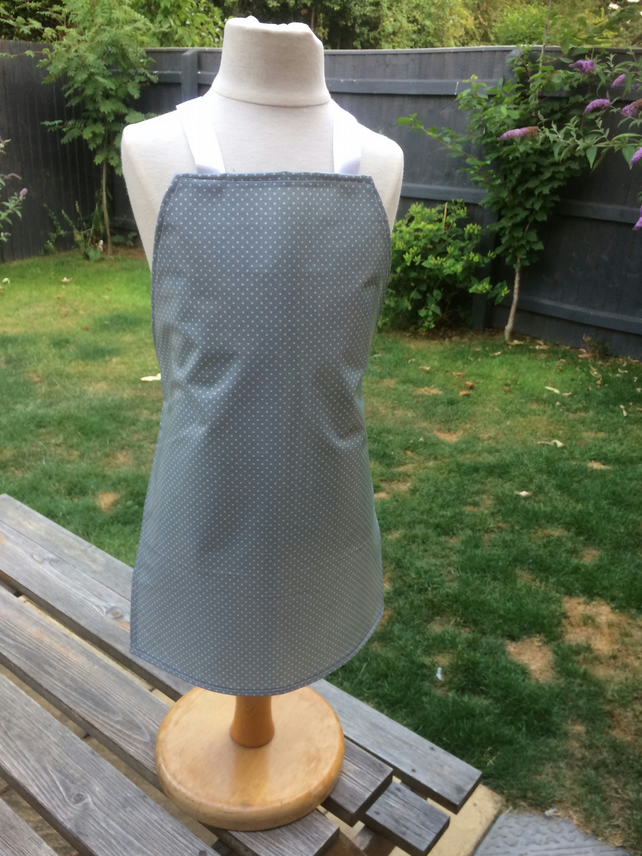 Children's Grey Spotty Apron (6-10) (498)