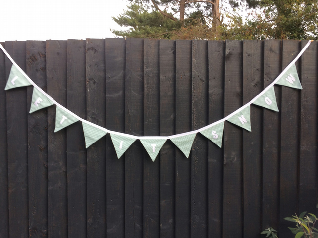 Personalised Bunting LET IT SNOW