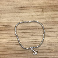 Silver Plated Anchor Bracelet (128)