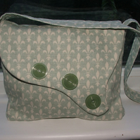 Shoulder bag vintage 1930's style green cream