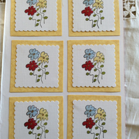 Handmade card toppers floral