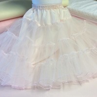 Childs 2 layer stiff net petticoat tutu