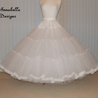 Stiff net 7 Layer bridal bespoke petticoat  colour of your choice