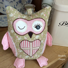 Owl door stop in beautiful floral colours