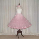 Custom made stiff net vintage style 50's rock 'n' roll petticoat with satin edge