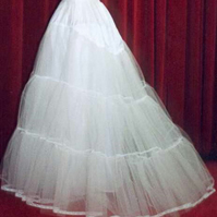 Custom made Bridal petticoat with extending train