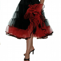 Petticoat stiff net Black Red Rock 'N' Roll