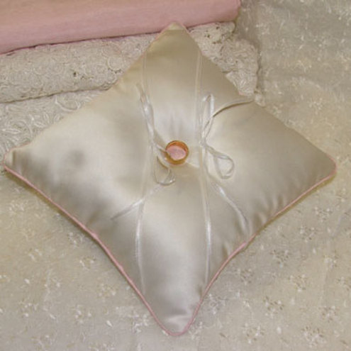 Wedding ring cushion pillow