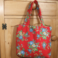 Bag tote bag in lovely needle cord fabric