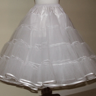 Petticoat 2 layer stiff net with satin binding Choice of colour