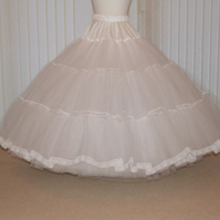 Stiff net 7 Layer bridal petticoat bespoke colour of your choice