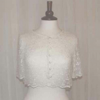 Delicate bolero shrug in embroidered net