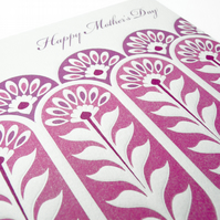 Letterpress Look Mother's Day Card
