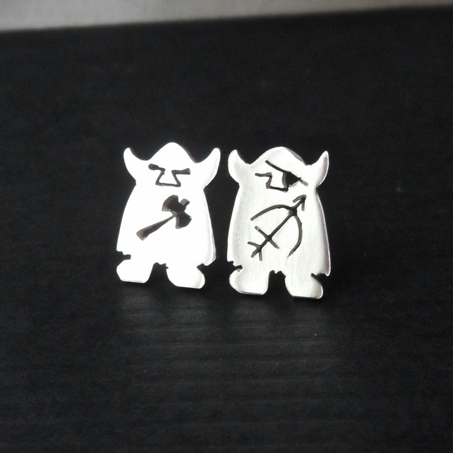 Agnar and Wilfric Tiny Viking Studs Made to Order