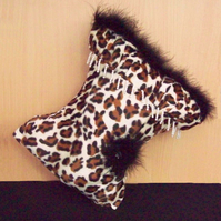 Cushion Leopard Print Scatter Cushion, Torso Cushion, Basque Cushion