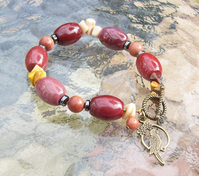 Mookaite Bracelet with charm