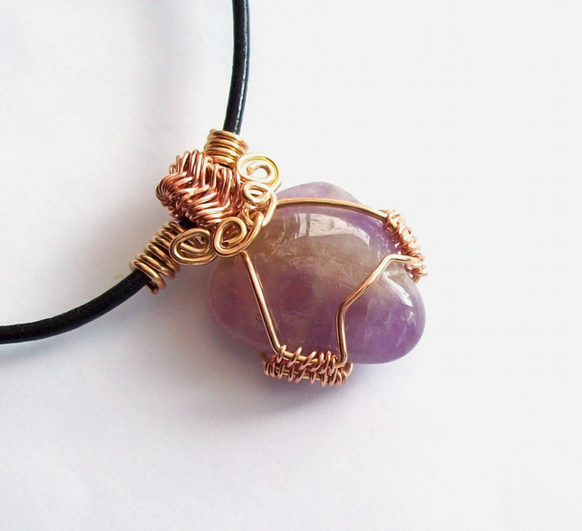 Wire Wrapped Pendant Ametrine Gemstone