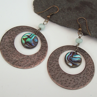 Large Copper Earrings