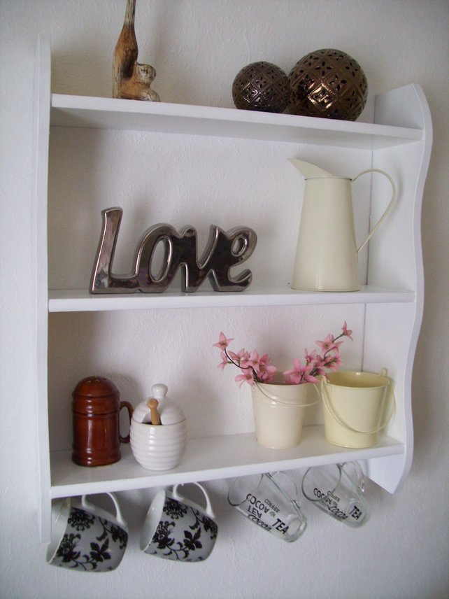 White Kitchen Bathroom Bookcase Shelves With Cu Folksy