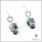 Sterling Silver, Iolite and Tourmaline Gemstone Drop Earrings