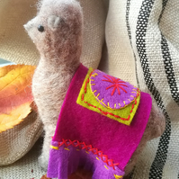 A very well behaved alpaca, just for you! Needle felted, hand stitched, decor 1